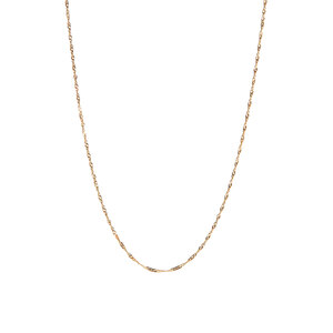 """18"""" 9K Gold Couture Singapore Chain 0.70g"""