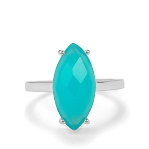 Aqua Chalcedony Ring in Sterling Silver 4.83cts