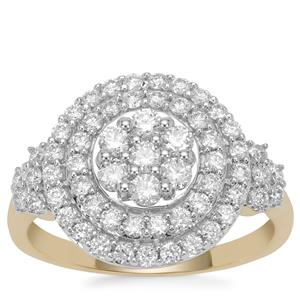 Russian VSi Diamond Ring in 9K Gold 1cts