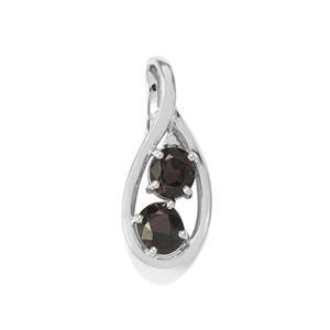 Burmese Multi-Colour Spinel & Diamond Sterling Silver Pendant ATGW 2.79cts