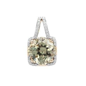 Csarite® Pendant with Diamond in 18K Gold 4.84cts