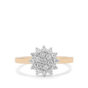 1/2ct SI Grade Diamond 18K Gold Ring