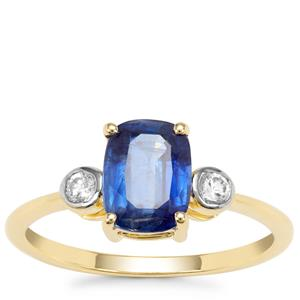 Nilamani Ring with White Zircon in 9K Gold 2.09cts