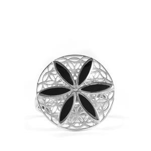 5ct Black Onyx Sterling Silver Midnight Garden Ring