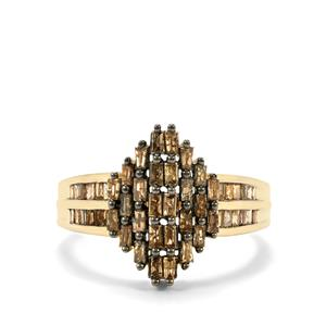 Champagne Diamond Ring  in 10k Gold 1ct