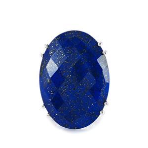 45.45ct Sar-i-Sang Lapis Lazuli Sterling Silver Ring