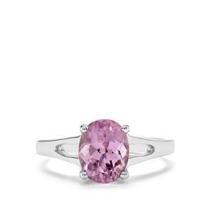 2.70ct Minas Gerais Kunzite Sterling Silver Ring