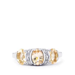 Mutala Morganite, Pink Tourmaline & Diamond Sterling Silver Ring ATGW 1.39cts