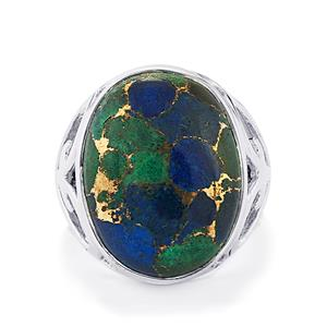 Mojave Azurite Ring in Sterling Silver 16cts