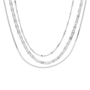 "18"" Sterling Silver Set of 3 Chains 4.34g"