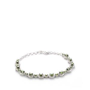 Chrome Diopside Bracelet in Sterling Silver 6.87cts