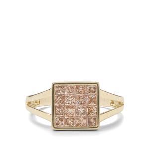 1ct Champagne Diamond 9K Gold Tomas Rae Ring