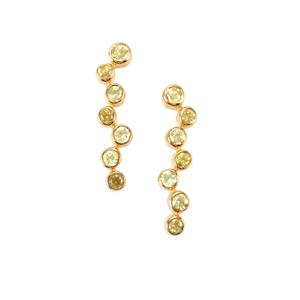 0.70ct Ambilobe Sphene Midas Silver Earrings