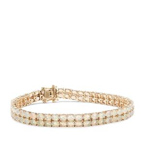 Ethiopian Opal Bracelet in 9k Gold 9.87cts