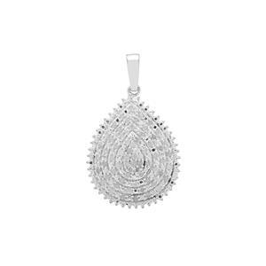 Diamond Pendant in Sterling Silver 0.52ct