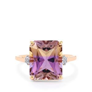 Anahi Ametrine & Diamond 9K Rose Gold Ring ATGW 5.48cts