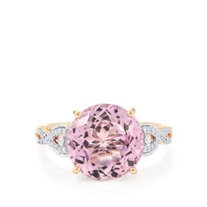 Mawi Kunzite Ring with Diamond in 14K Rose Gold 6.25cts