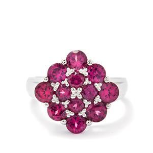3.23ct Rajasthan Garnet Sterling Silver Ring
