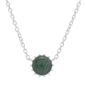 4.65ct Malachite Sterling Silver Necklace