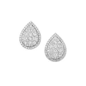 Diamond Earrings in 18K White Gold 1.45ct