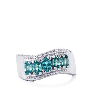 Manyoni Blue Zircon Ring  in Sterling Silver 1.86cts