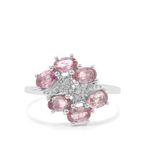 Sakaraha Pink Sapphire & Diamond 9K White Gold Ring ATGW 1.82cts