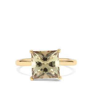 3.84ct Csarite® 18K Gold Ring