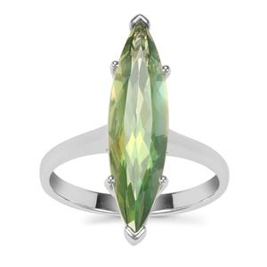 Fern Green Quartz Ring in Sterling Silver 4.28cts