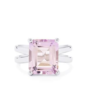 5.71ct Rose De France Amethyst Sterling Silver Ring