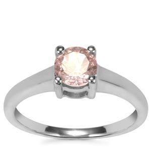 Alto Ligonha Morganite Ring in Sterling Silver 0.67ct