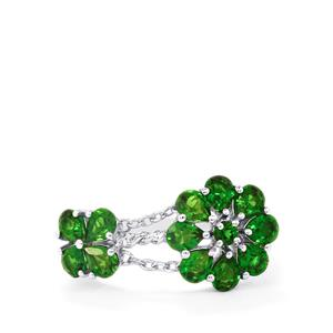 2.17ct Chrome Diopside Sterling Silver Charleston Ring