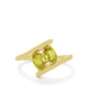 Ambilobe Sphene Ring in 10k Gold 1.23cts