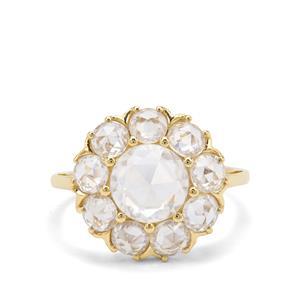 4.71ct Rose Cut Ratanakiri Zircon 9K Gold Ring