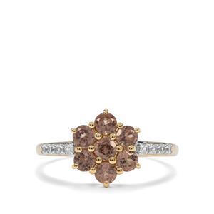 Tsivory Colour Change Garnet & White Zircon 10K Gold Ring ATGW 1.21cts