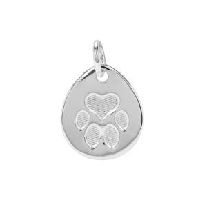'Posh Paw' Sterling Silver Pendant