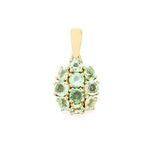 Paraiba Tourmaline Pendant in 10K Gold 1.28cts