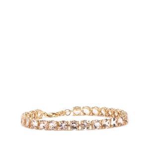 18.88ct Alto Ligonha Morganite 10K Gold Tomas Rae Bracelet