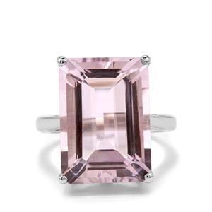15.35ct Rose De France Amethyst Sterling Silver Ring