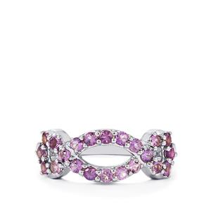 0.74ct Purple Scapolite Sterling Silver Ring