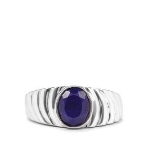 2.53ct Sar-i-Sang Lapis Lazuli Sterling Silver Ring