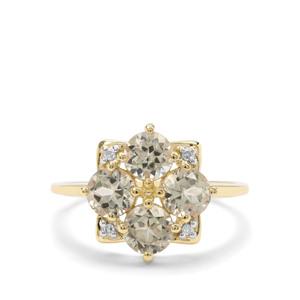 Csarite® & Diamond 9K Gold Ring ATGW 2.22cts