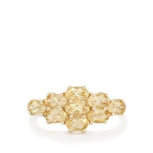 2.18ct Ouro Preto Imperial Topaz 10K Gold Ring