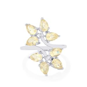 Serenite Ring with White Topaz in Sterling Silver 3.07cts