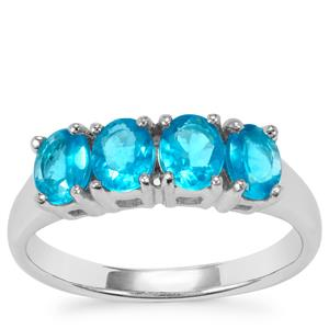 Neon Apatite Ring in Sterling Silver 1.30cts