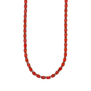 48ct Malagasy Ruby Sterling Silver Necklace (F)