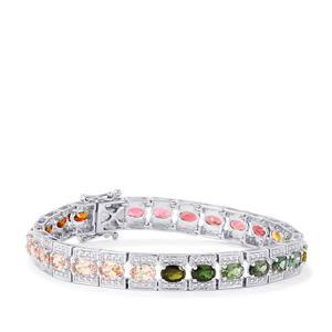 Rainbow Tourmaline Bracelet in Sterling Silver 11.59cts