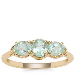 Siberian Emerald Ring in 9K Gold 0.84ct