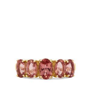 2.55ct Rosé Apatite 9K Gold Ring