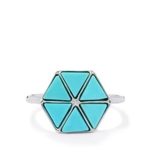 2.34ct Cochise Turquoise Sterling Silver Ring