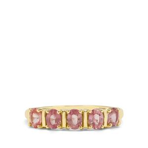 Padparadscha Sapphire Ring in 9K Gold 1.20cts